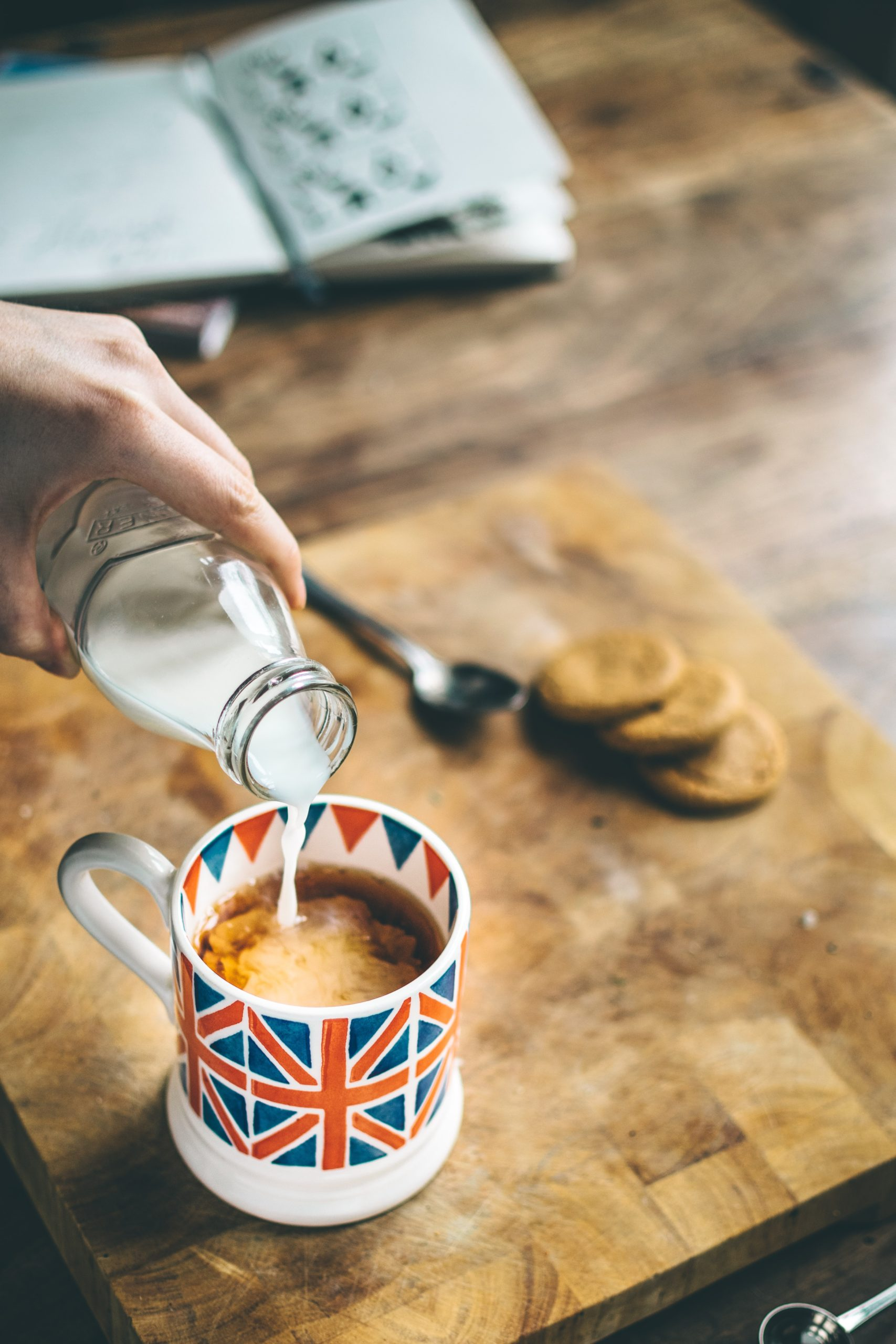 British coffee cup